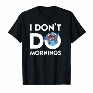 Order Disney Stitch Don't Do Mornings Pullover Hoodie