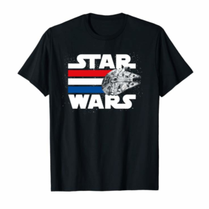 Shop Star Wars Falcon Stripes Red White & Blue Graphic Hoodie