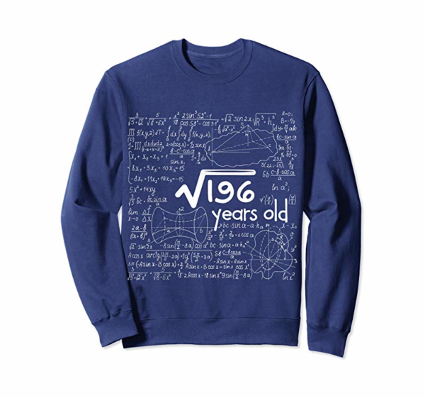 Order Now Square Root Of 196: 14 Years Old 14th Birthday Gift T-Shirt