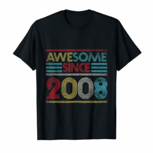 Adorable 11th Birthday Gifts - Awesome Since 2008 T-Shirt