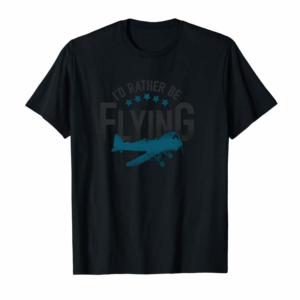 Adorable Id Rather Be Flying Hoodie Vintage Aviation Retro Pilot Gift