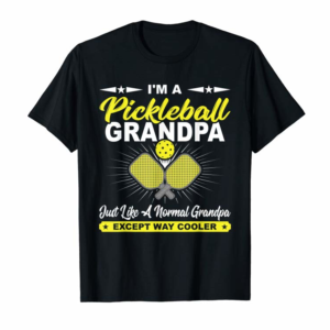 Buy Now Funny Pickleball Grandpa Pickleball Player Gift T-Shirt