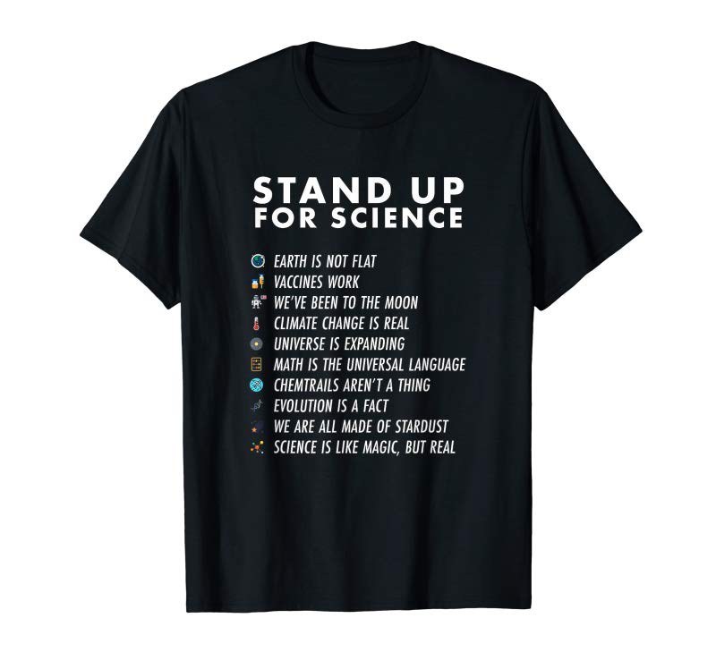 Trending Stand Up For Science - Magic But Real Earth Moon Graphic T-Shirt