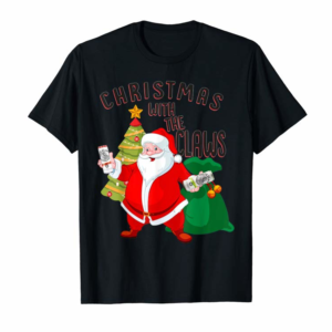 Adorable Christmas With The Claws Santa Drink White Claws T-Shirt