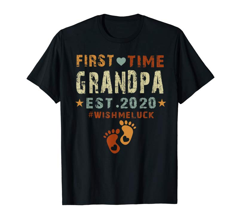 Trending First Time Grandpa Est 2020-Promoted To Grandpa 2020 T-Shirt