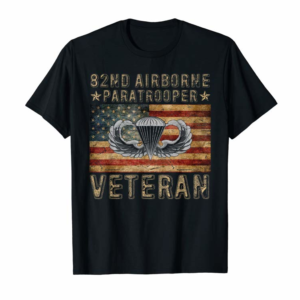 Shop 82nd Airborne Paratrooper Veteran T-shirt Men Women T-Shirt