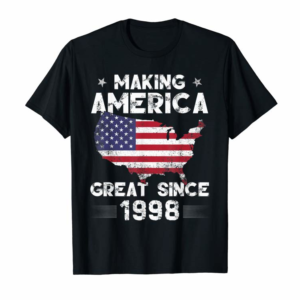 Shop Vintage 21st Birthday Gift Making America Great Since 1998