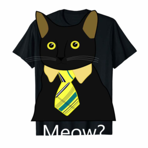 Trends Black Business Cat Kitten With Yellow Tie Pullover Hoodie