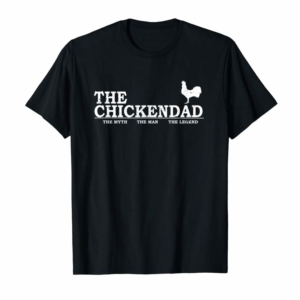 Trends The Chicken Dad T-Shirt Pet Lover Father's Day Gift Tee Cute
