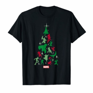 Order Marvel Avengers And Guardians Of The Galaxy Christmas Tree T-Shirt