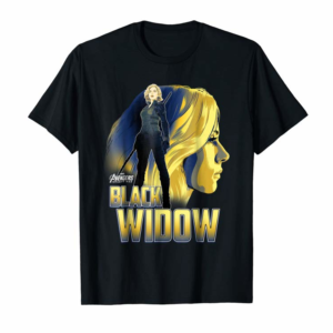 Trending Marvel Infinity War Black Widow Profile Graphic T-Shirt