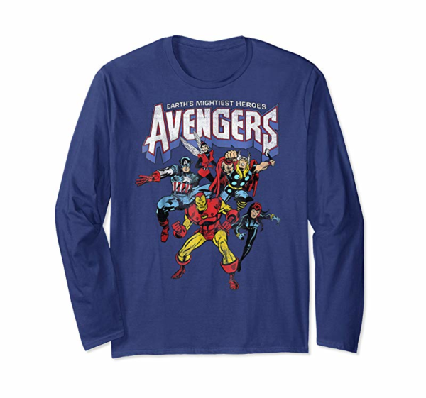 Buy Marvel Avengers Classic Vintage Group Shot Graphic T-Shirt