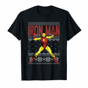 Buy Now Marvel Iron Man Ugly Christmas Sweater Graphic T-Shirt