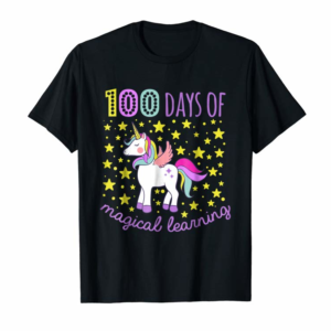 Trends Adorable 100 Days Of Magical Learning School Unicorn Shirt