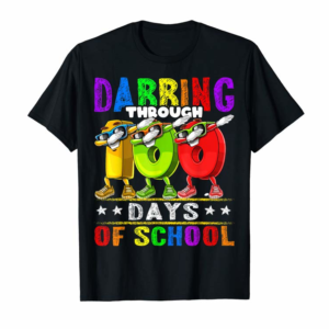 Trends Dabbing Through 100 Days Of School 100th Day School Kids T-Shirt