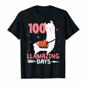 Adorable 100 Llamazing Days Cute Llama Hippie 100Th Day Of School T-Shirt