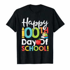 Buy Happy 100th Day Of School Shirt For Teacher Or Child