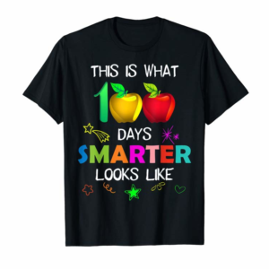 Trends This Is What 100 Days Smarter Looks Like 100th Days T-Shirt