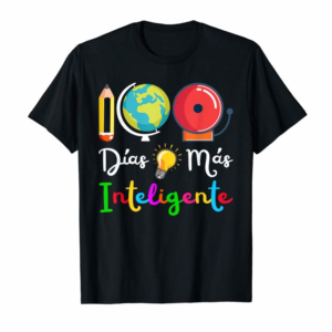 Buy Now Spanish Teacher 100 Days Smarter 100th Day Of School Gifts T-Shirt
