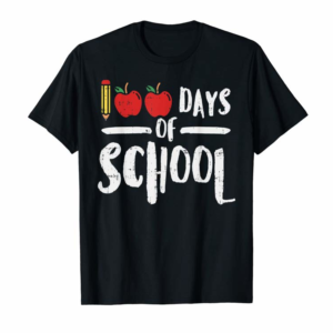 Order Now 100 Days Of School Apple Shirt 100th Day Teacher Gift Pencil T-Shirt