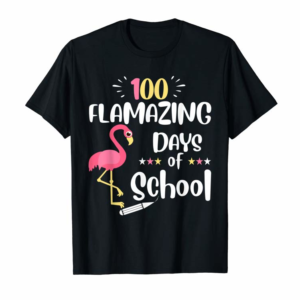Trending 100 Flamazing Day Of School Flamingo 100th Days Gifts Girls T-Shirt