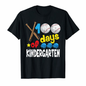 Adorable 100th Days Of Kindergarten T Shirt Baseball School Gift