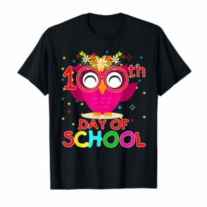 Trends Cute Owl 100th Day Of School T-shirt 100 Days Smarter Kids T-Shirt