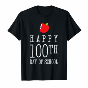 Adorable Happy 100th Day Of School Shirt Funny Cute Teacher Student