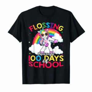 Order Flossing Through 100 Days Of School 100th Day Smarter Shirt