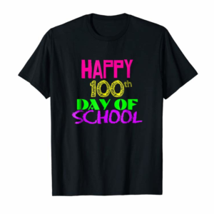 Adorable Happy 100th Day Of School Tshirt 100 Day TEACHER STUDENT