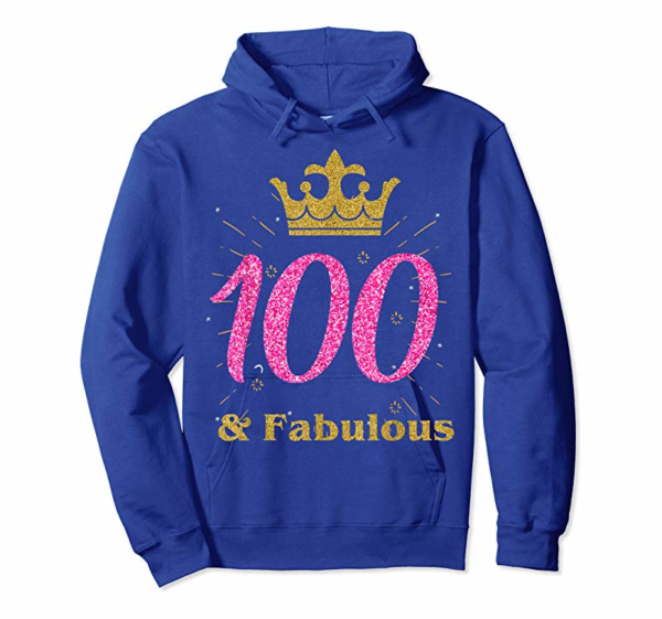 Adorable 100th & Fabulous Shirt | Queen Ladies' B-day Women Tee Gift