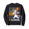 Adorable 100th Day Of School Dabbing Unicorn Shirt Boys Girls Gift