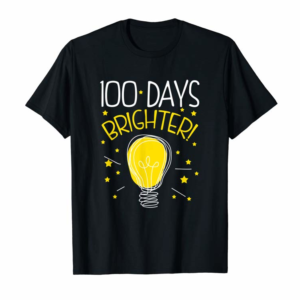 Buy Now 100 Day Brighter T-shirt For 100th Day Of School