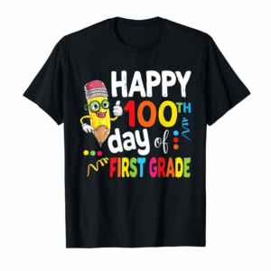 Adorable Happy 100th Day Of First Grade Shirt For Girl Boy & Teacher