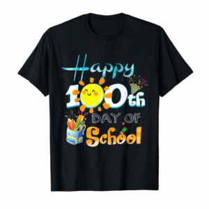Order Now Happy 100th Day Of School Shirt For Teacher & Kid T-Shirt
