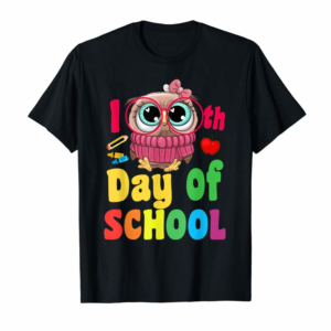 Order Cute Owl 100th Day Of School T-shirt 100 Days Smarter Tee