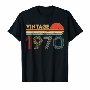 Adorable 49 Year Old Birthday Gift Vintage Classic Born In 1970 Gifts T-Shirt