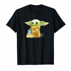 Trends Star Wars The Mandalorian The Child Drink Soup Illustration T-Shirt