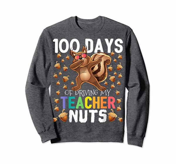 Adorable 100 Days Of Driving My Teacher Nuts Dabbing Squirrel Shirt