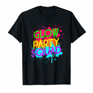 Shop Glow Party Squad - Neon Effect Group Halloween T-Shirt