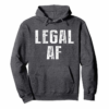Order Funny 21st Birthday Gift T-Shirt Legal AF 21 Years Old Tee