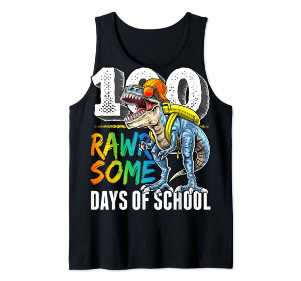 Adorable 100 Rawrsome Days Of School Dinosaur 100th Day Of School Boy T-Shirt