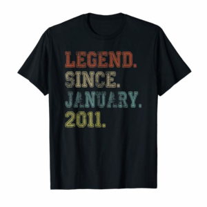 Adorable Legend Since January 2011 9th Birthday 9 Years Old Gift T-Shirt