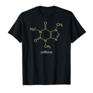 Shop Caffeine Molecule Coffee Gift T-Shirt For Coffee Lovers