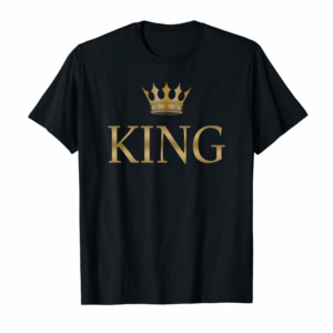 Adorable King Gold Crown Birthday T-Shirt
