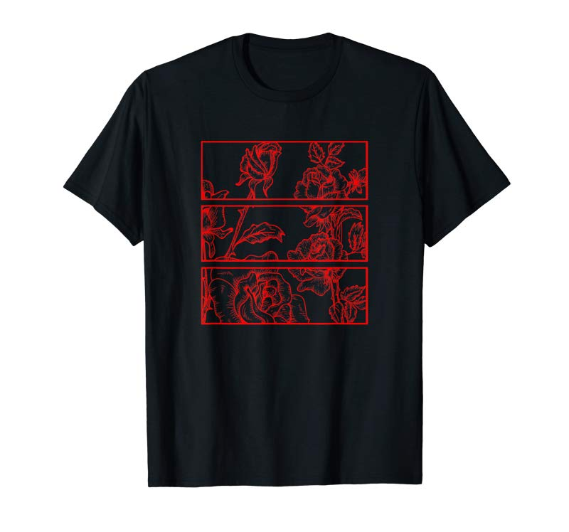 Shop Red Roses Aesthetic Clothing Soft Grunge Clothes Teen Girls T-Shirt