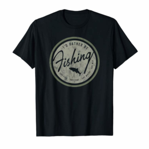 Trends I'd Rather Be Fishing T-shirt, Retro Distressed Tee Olive