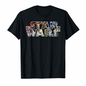 Adorable Star Wars Classic Movie Poster Logo Graphic T-Shirt