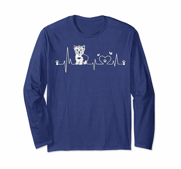Cool Yorkie Heartbeat T-shirt, Gift For Yorkie Lovers T-Shirt