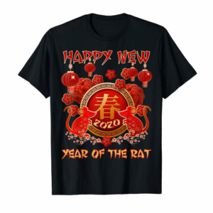 Adorable 2020 Year Of The Rat Happy Chinese New Year Gift Tee T-Shirt